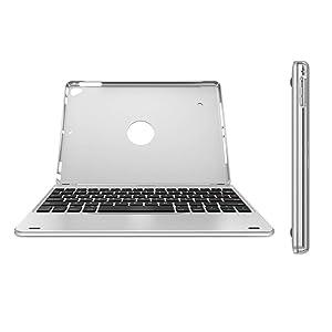 iPad 9.7-inch (iPad 6, 2018 / iPad 5, 2017) Keyboard, Arteck Ultra-Thin Bluetooth Keyboard with Folio Full Protection Case for Apple iPad 9.7 iPad 6, 5 and iPad Air 1 with 130 Degree Swivel Rotating (Tamaño: iPad 9.7 iPad 6 2018 / iPad 5 2017 / iPad Air 1)