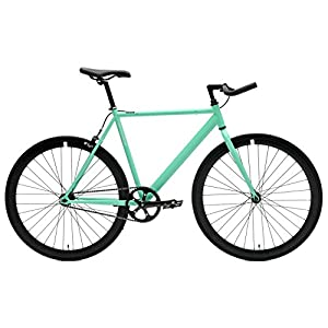 Critical Cycles Classic Fixed Gear Single Speed Track Bike with Pursuit Bullhorn Bars