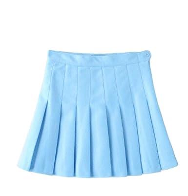 Falda de Seguridad para Cosplay de Cintura Alta Japonesa Plisada ...