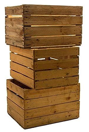 piezas slido cajas de fruta cajas de vino cajas de manzana caja madera shabby vintage
