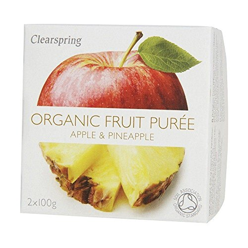 Clearspring Organic Fruit Puree Apple & Pineapple 2 x 100g (Pack of 2) by Clearspring