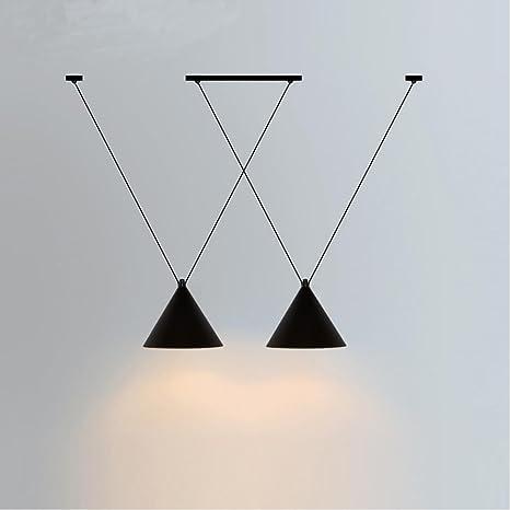 2 Cabeza Retro Decoración de Diseño Vintage Lámpara Colgante ...
