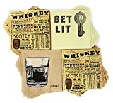 Bourbon Cocktail Napkins (84 count total) - Whiskey Paper Napkins in 3 Designs