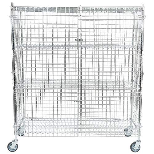 - TableTop King NSF Mobile Chrome Wire Security Cage Kit - 24