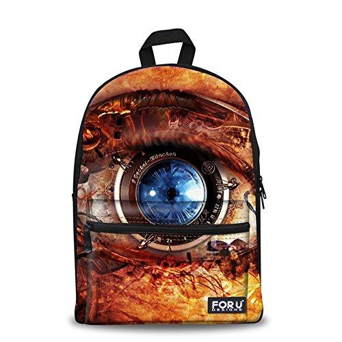 Unisex Fashion Casual School Travel Laptop Backpack Rucksack Daypack Tablet Bags (Orange) - 4