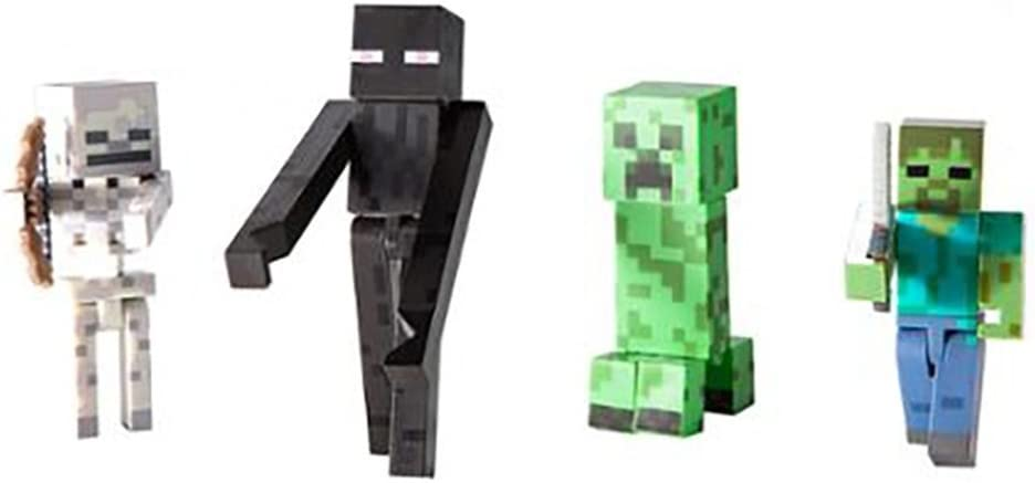 Jazwares - Figuras de acción Minecraft, 4 Piezas (16587): Amazon ...
