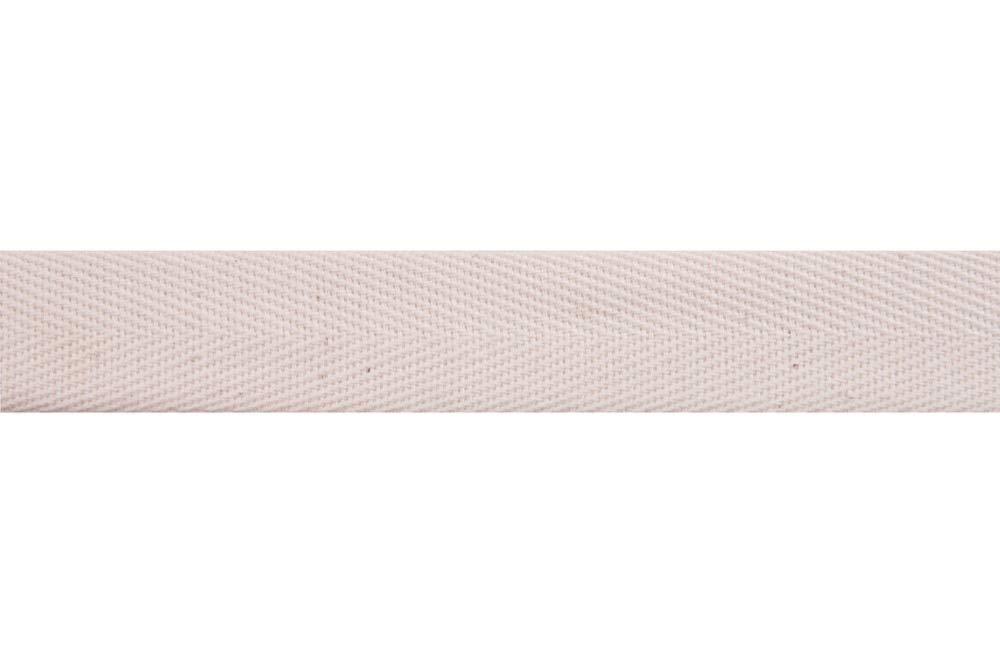 Plush Addict Cotton Herringbone Webbing Tape 20mm Wide Natural Per Metre