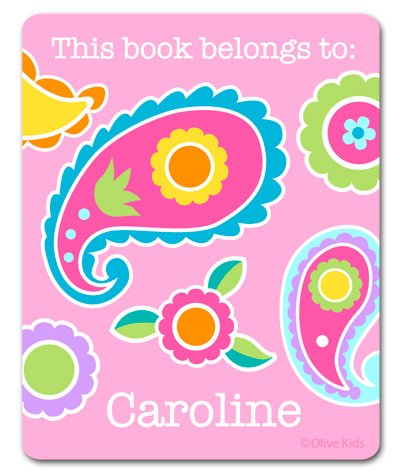 Olive Kids Personalized Paisley Dreams Bookplates