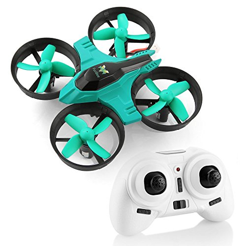 Mini Quadcopter Drone, F36 Mini RC Drone 2.4G 4CH 6Axis Gyro Remote Control Nano Drone RTF for Kids Adults Beginners - Headless Mode, 3D Flip, One Key (Nano Remote)