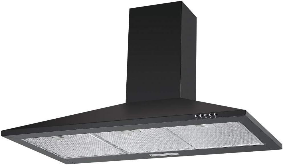 Campana extractora Cookology CH100BK, 100 cm, color negro, con filtros de carbono: Amazon.es: Grandes electrodomésticos