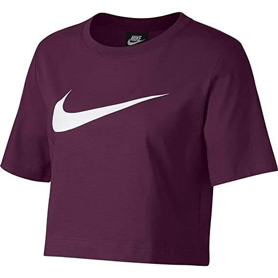 the latest 58ebf 8b83e Nike Sportswear T-Shirt Femme Bordeaux S (Small)