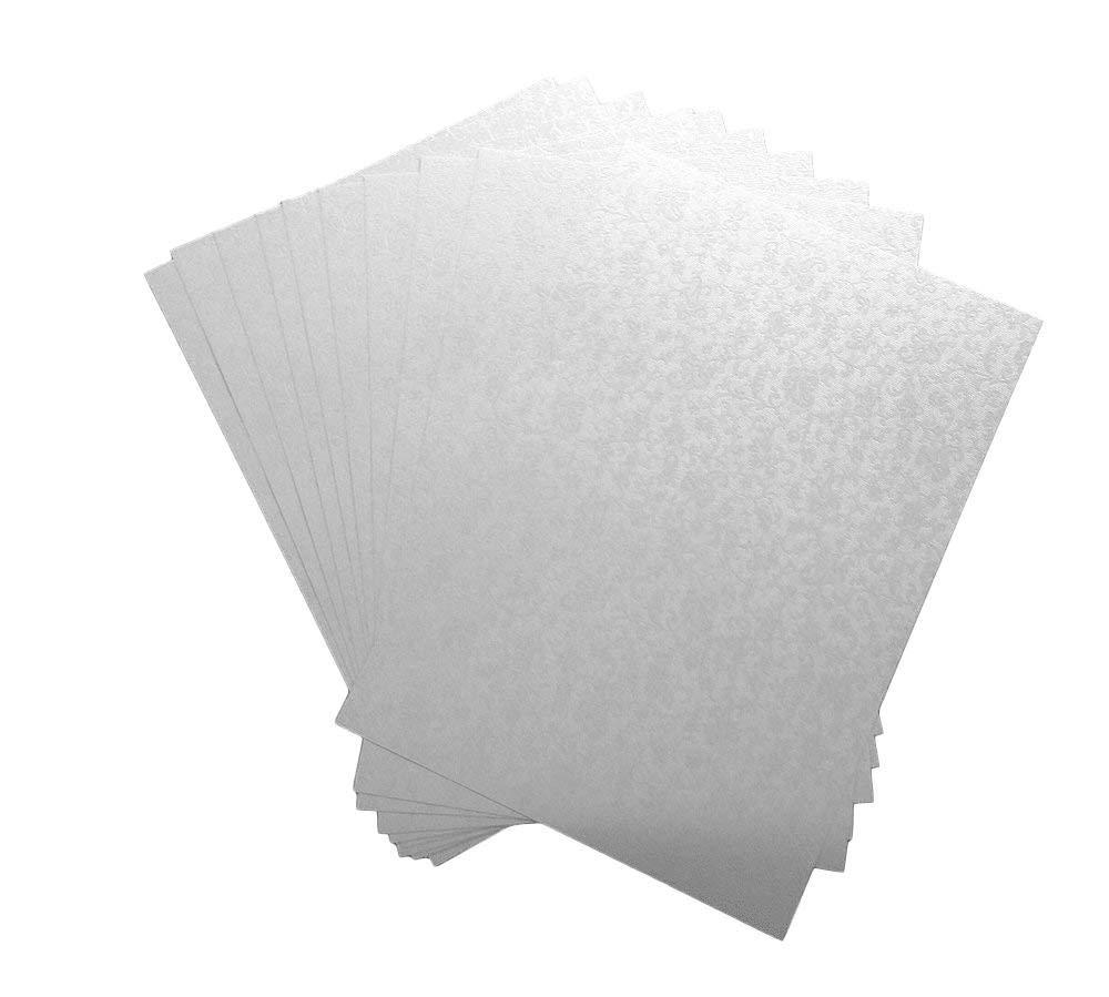 20 fogli A4, colore: bianco perlato, con ricamo di Applique di carta con motivo floreale, 120 g/mq, PIA, 4-6 anni) Syntego