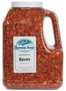 Harmony House Foods, Dehydrated Carrots (64 oz, Gallon Size Jug)