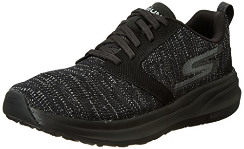 Skechers Men's GO Run Ride 7, Black/Black, 12 D
