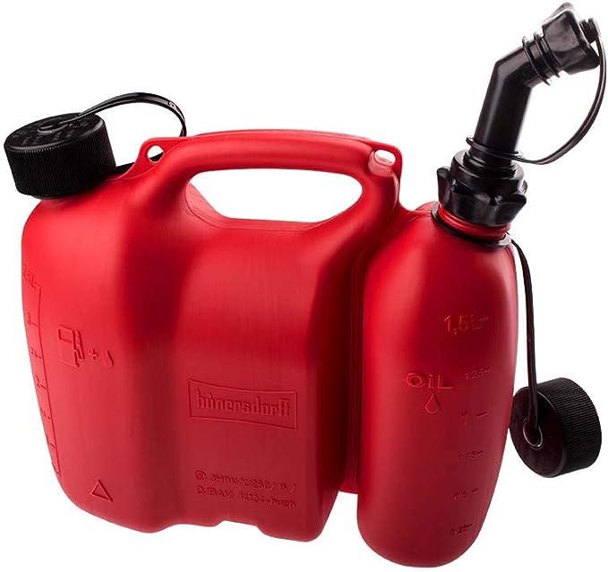 Kanister Mit Zwei Fächern Für Kettensägen Öl Und Benzin Einheitsgröße Baumarkt