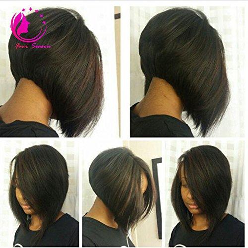 QIRUI HAIR Bob Wig 7A Silky Straight U Part Human Hair Wig Bob Upart Wigs Human Hair For Black Women 130density Natural Black 10Inch