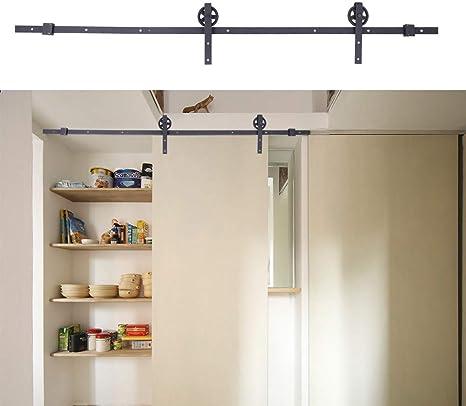 2.4 M/8FT Kit Rail puerta corredera de techo polea puerta de acero ...