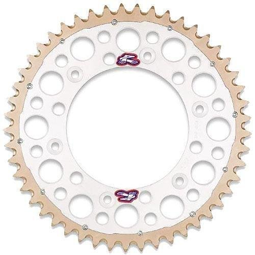 [Renthal 1540-520-52GPSI Twinring Silver 52 Tooth Rear Sprocket] (Silver 52 Tooth)