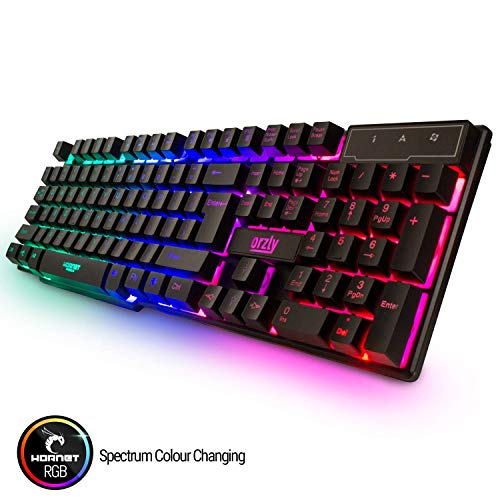 Gaming Keyboard and Mouse and Mouse pad and Gaming Headset, Wired LED RGB Backlight Bundle for PC Gamers and Xbox and PS4 Users - 4 in 1 Gift Box Edition Hornet RX-250 8