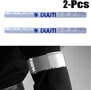 Fansport 2PCS Cinturino per Pantaloni da Corsa con Banda Riflettente di Sicurezza Notturna