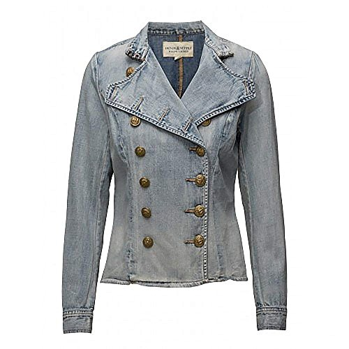 Ralph Lauren Denim & Supply Women's Military Army Officer Band Jacket, Indigo, X-Small