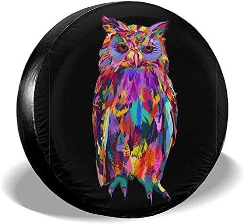 Dem Boswell Reserverad Reifen Abdeckung Farbe Owl Art Trinkwasser Polyester Universal Wasserdicht Staubdicht Sonnencreme Universal Fit