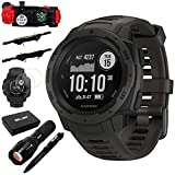 Instinct Rugged Outdoor Watch w/GPS and Accessories Bundle