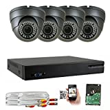 Cheap GW 5-In-1 1080P 8 Channel DVR 2MP 4X Optical Zoom Security Camera System with (4) x True HD 1080P Waterproof Auto-Focus 4X Motorized Zoom Varifocal 25°-100° Dome Camera