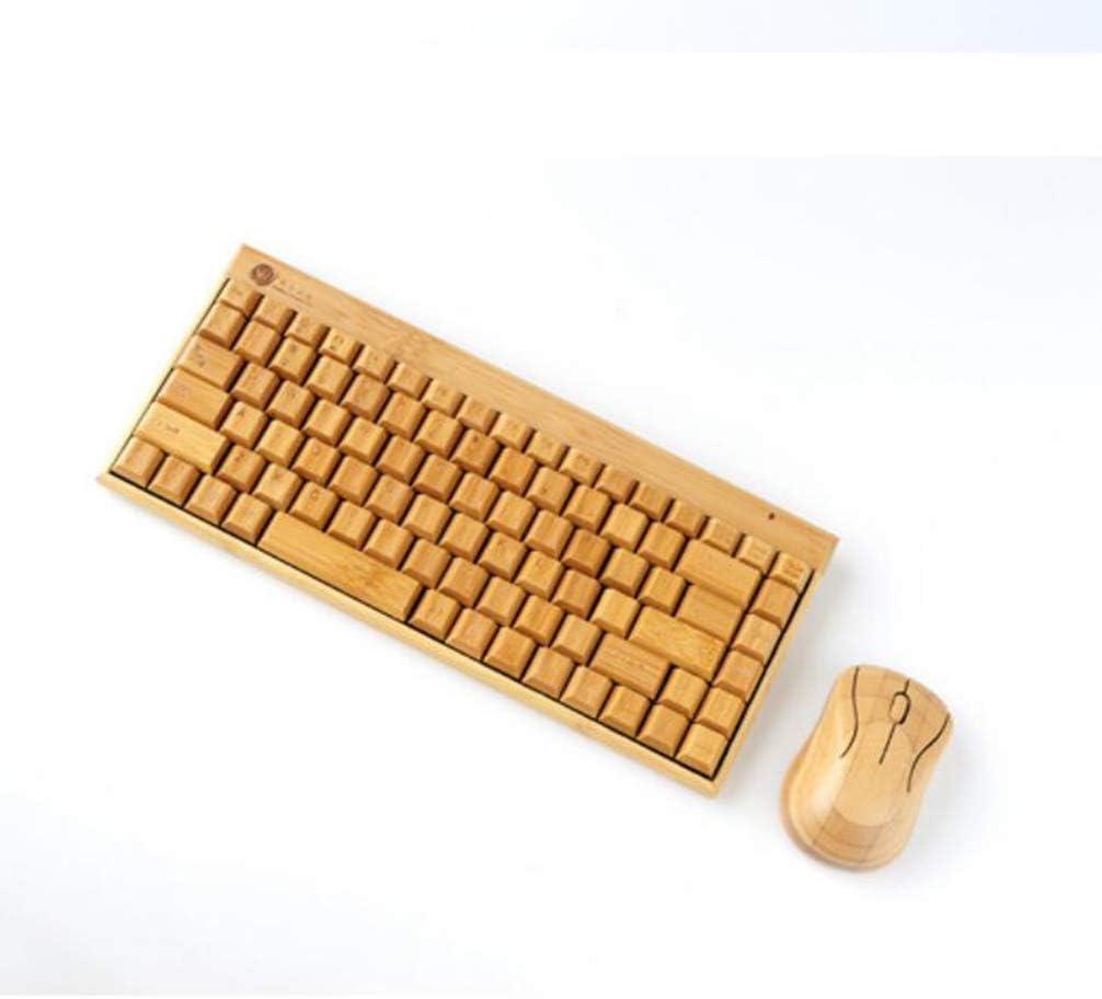 Boyishengshi Creative Personality Wireless Mini Bamboo Keyboard Bamboo Mouse Set Bamboo Crafts