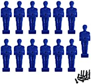 Foosball Men Table Soccer Guys Replacement Players Fits 1/2 inch Rods 13 Pack