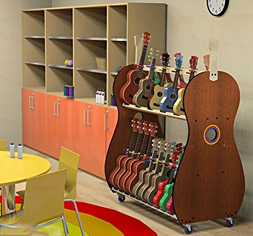 The Band Room Ukulele Storage Cart For Classrooms By Au0026S Crafted Products