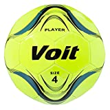 Voit Size 4 Player Deflated Soccer Ball, Neon Yellow