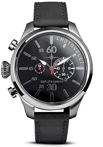 Chotovelli Aviator Pilot Watch, Chronograph Sapphire for sale  Delivered anywhere in USA