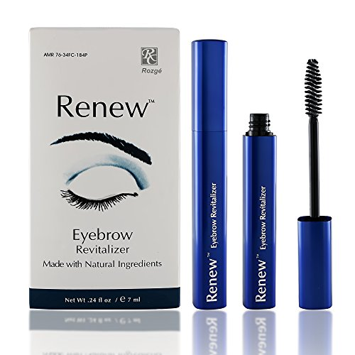 Renew Eyebrow Revitalizer Eyebrow Growth Gel - All Natural Formula Promotes Natural Hair Growth for Luxuriant Eyebrows - Gently Cleanses and Removes Dead Skin Cells for Healthy Vibrant Hair ()