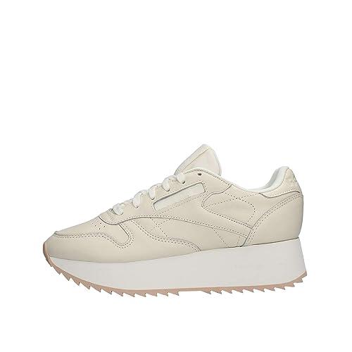Reebok Cl Lthr Double, Zapatillas de Deporte para Mujer: Amazon.es: Zapatos y complementos