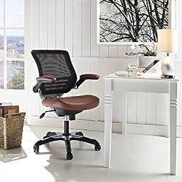 LexMod Edge Vinyl Office Chair, Tan