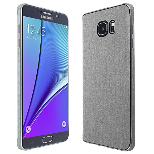 Skinomi TechSkin - Samsung Galaxy Note 5 Screen Protector + Brushed Aluminum Full Body Skin / Front & Back Premium HD Clear Film Ultra Invisible and Anti-Bubble Shield (Note Edge Skinomi compare prices)