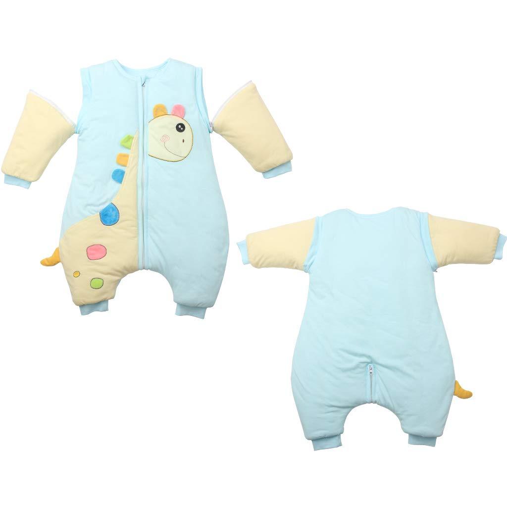 Vine Beb/é Saco de dormir Con separado los pies Mangas Desmontables 3 Tog