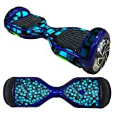 Fewear Protective Skin Decal for 6.5in Self Balancing Scooter Hoverboard 2 Wheels- Sticker for Hover Board - Skin for Self-Balancing Electric Scooter - Decal for Self Balance Mobility Longboard (G)
