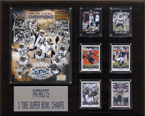 NFL New England Patriots 3 Time Super Bowl Champs Champions Plaque (Bowl Plaque Championship Super)