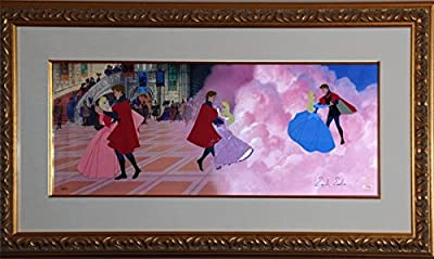 """Disney Sleeping Beauty Cel """"DANCE IN THE CLOUDS Rare Signed Animation Art cell"""
