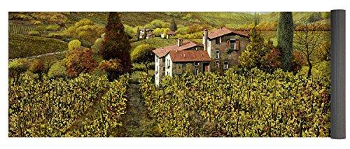Pixels Yoga Mat w/ Bag ''Le Vigne Toscane'' by Pixels