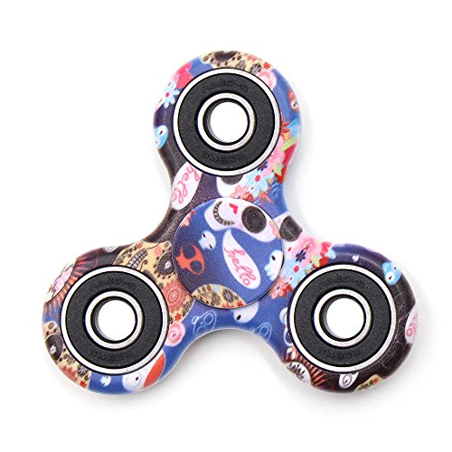 TOLOCO Spinner Fidget Toy Hand Spinner Camouflage,for ADHD EDC Hands Killing Time (A8-Powder skull)