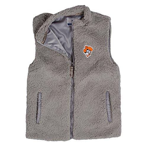 Summit Hoodie Vest - Summit Sportswear Women's Sherpa Vest OSU Charcoal L