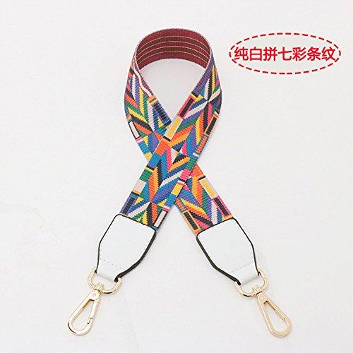 (White Woven belt Wide 3.8cm / Length 73cm Mini Purse/Shoulder/Cross Body Bag Replacement DIY Strap replacement purse strap)