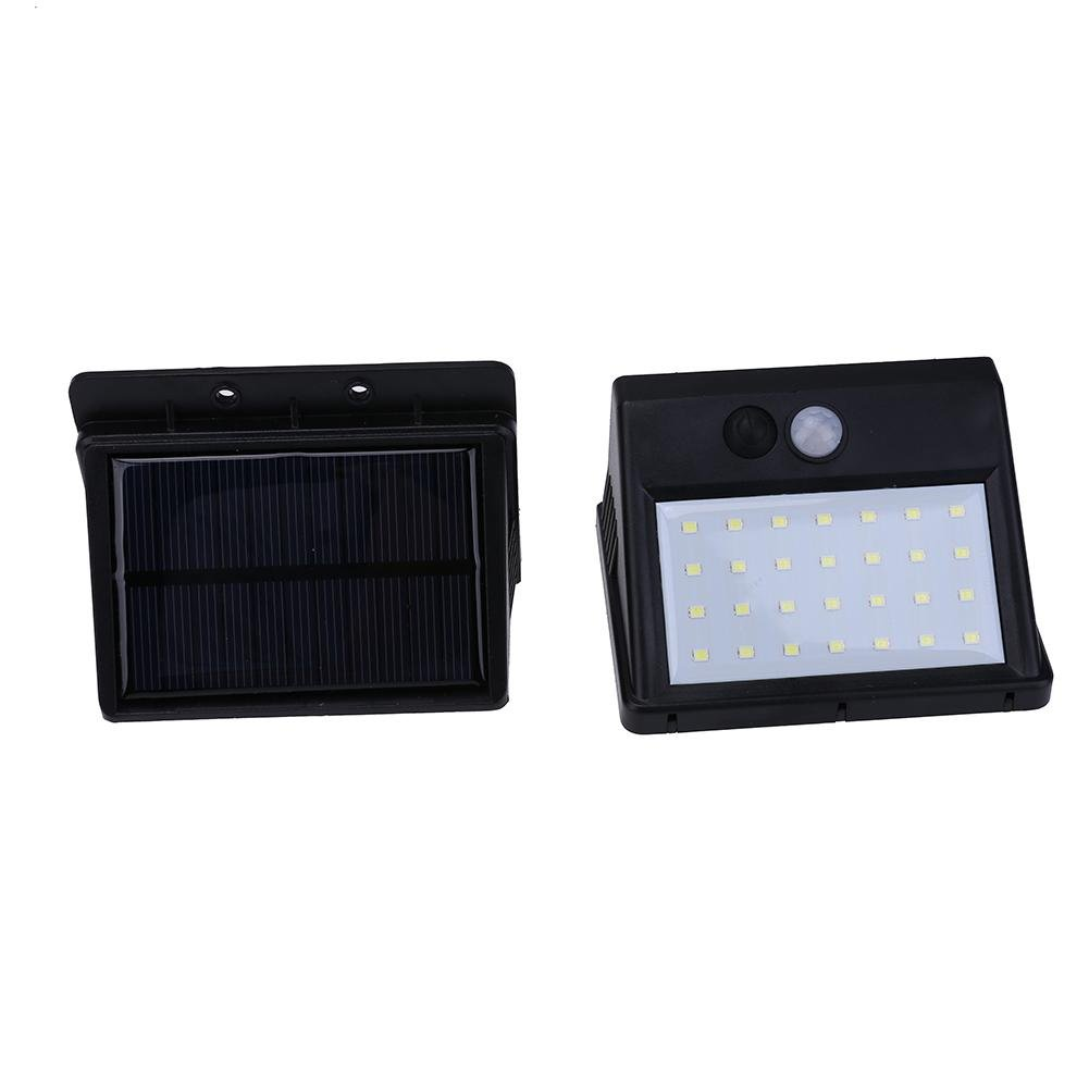 MKChung 28LED Motion Sensor Yard Wall Road Light with Removable Solar Power Panel