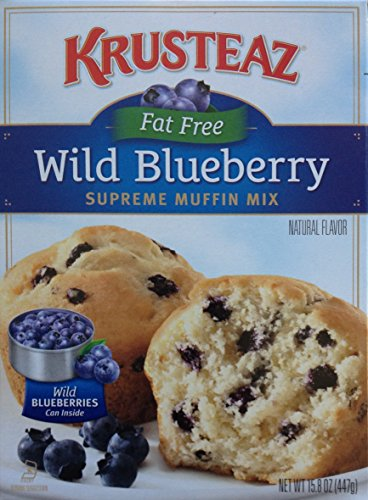 Krusteaz Fat free Wild Blueberry Muffin Mix 15.8oz (2 pack) - Free Blueberry Muffin