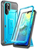 SUPCASE Unicorn Beetle Pro Series Designed for Huawei P30 Pro Case (2019 Release) Full-Body Dual Layer Rugged with Holster & Kickstand (Black) (Blue)