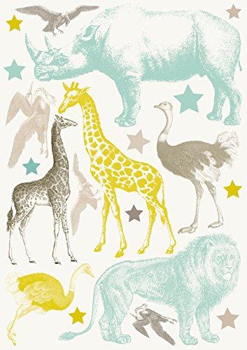 Anna wand Wandsticker AFRICAN ANIMALS ANIMALS ANIMALS - Wandtattoo für Kinderzimmer Babyzimmer mit afrikanischen Tier-Motiven in Pastell-Tönen - Wandaufkleber Schlafzimmer Mädchen & Junge, Wanddeko Baby Kinder B014T88D2U Wandsticker & Wandfiguren ff96d5