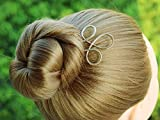 Simple hair accessory, Celtic Gold Hair Fork Hair Stick Bun Holder, Hammered Hair Pin Hair Jewelry